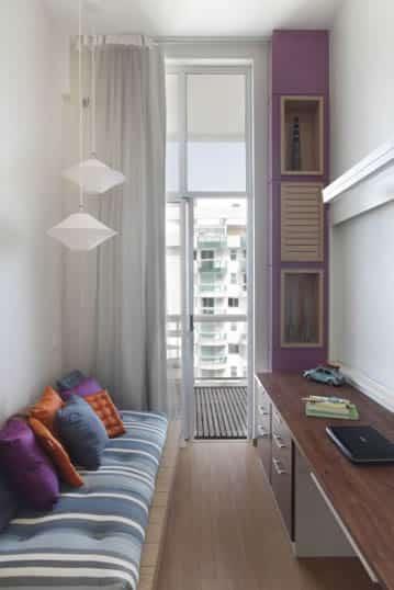 Loft transformado em suíte e escritório Reforma Fácil ~ Transformar Home Office Em Quarto De Bebe