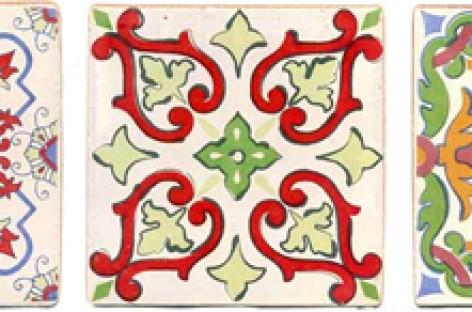 Revestimento inspirado em tecidos indianos e orientais