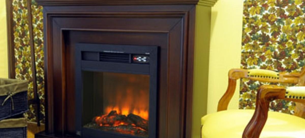 Lareira elétrica com aquecimento inteligente