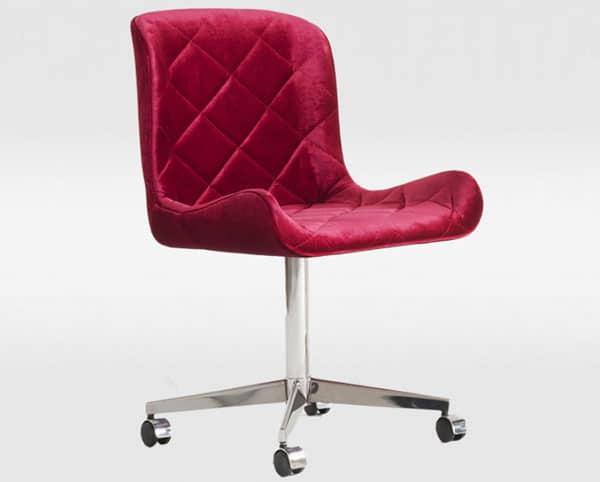 Cadeira de escritório Egg Matelassê - ObraVip.com