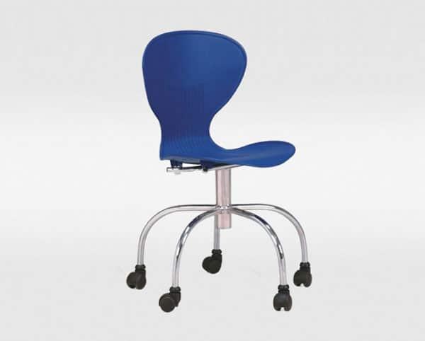 Cadeira de escritório giratória azul flash - ObraVip.com