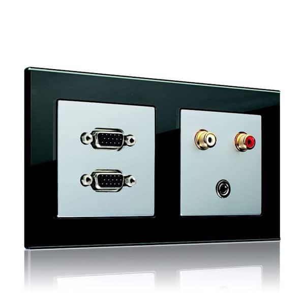 Sistema centralizado de conexões para aparelhos multimídia - Jung