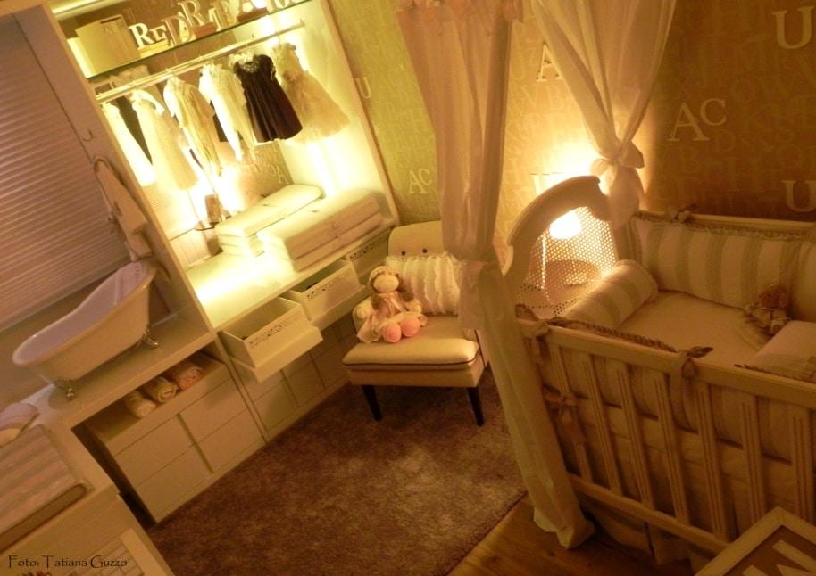 """''''O quarto dos sonhos"""" - Casa Cor/ES - Destaque para banheira de bebê em estilo Vitoriana"""