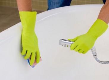 Como limpar uma banheira
