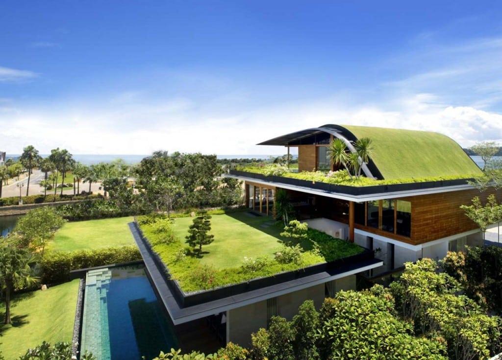 O telhado verde oferece diversos benefícios à edificação (Foto: Divulgação)