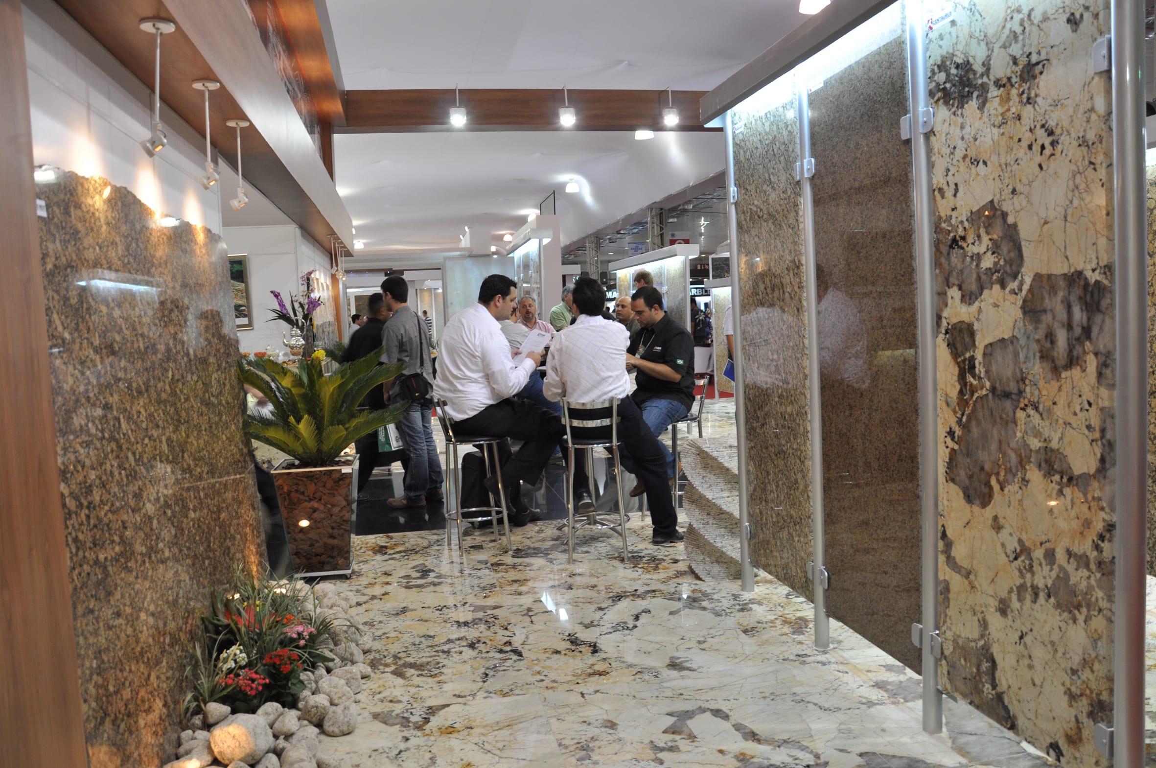 A Feira Internacional de mármore e granito. (Foto: Divulgação)