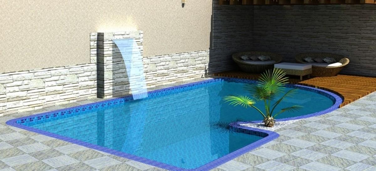 Cascatas para piscinas veja dicas e modelos reforma f cil for Como hacer una piscina de concreto
