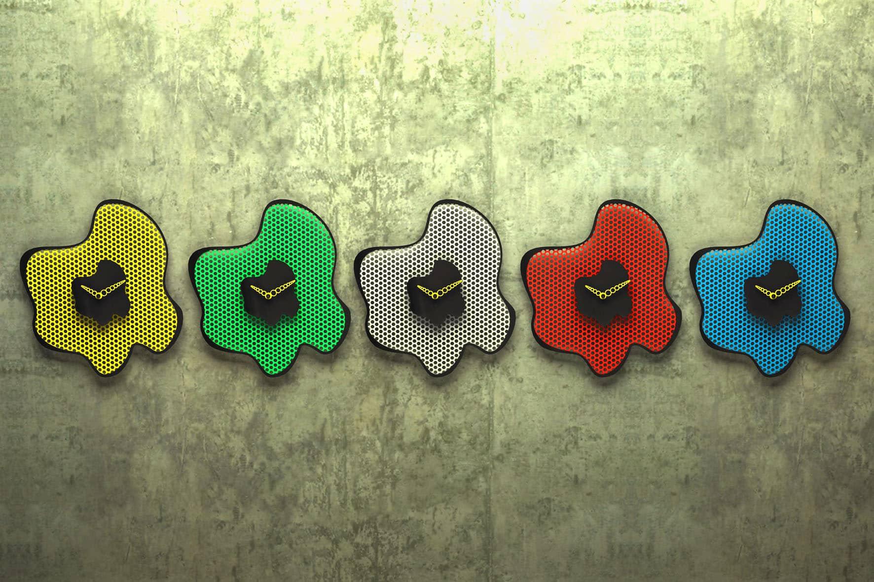 Ameboclock conjunto de Parede por Pedro Braga Design -  23ª Paralela Gift (Foto: Divulgação)