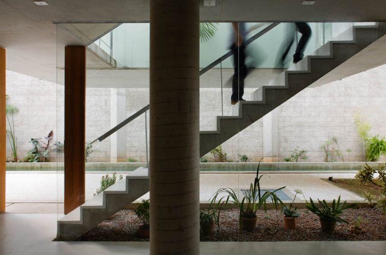Escada de alvenaria. (Foto: Divulgação)