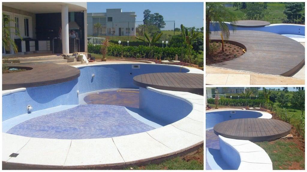 Deck para piscina modelos reforma f cil for Modelos de piscinas para fincas