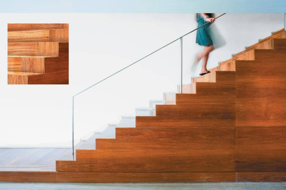 Escada de piso laminado (Foto: Divulgação)
