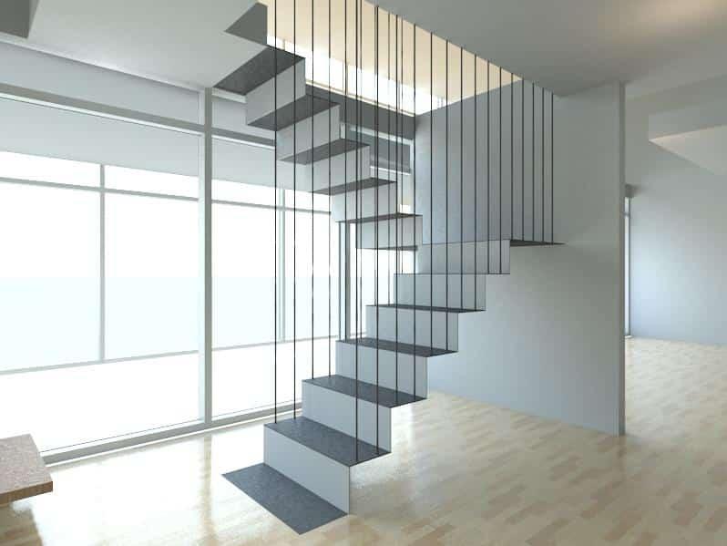 Escada Flutuante, conheça a beleza desse modelo! (Foto:Divulgação)