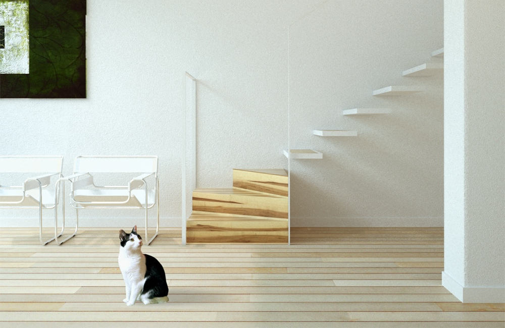 Escada flutuante, confira a beleza desse modelo! (Foto:Divulgação)