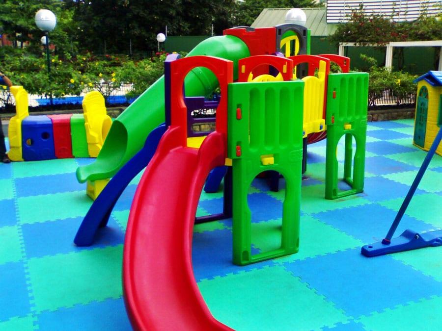 Pisos de borracha para área de playground