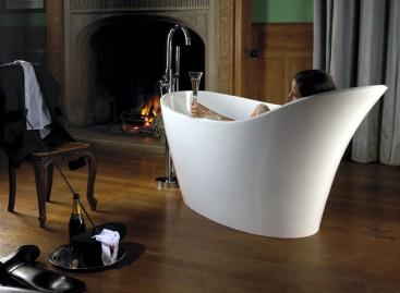 Banheira Contemporânea Amalfi com a Nova Tecnologia Free-Standing