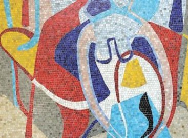 Pastilhas de vidro em mosaicos artísticos e monocromáticos