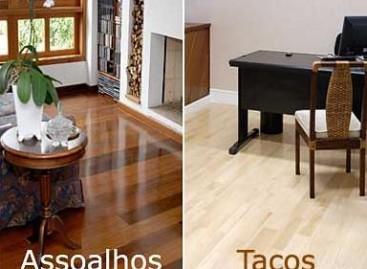 Tacos e assoalhos de madeira