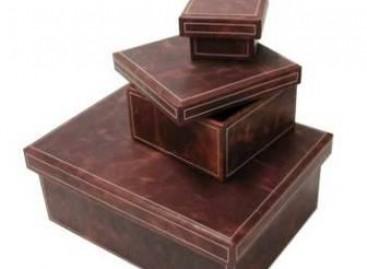 Organização com caixas