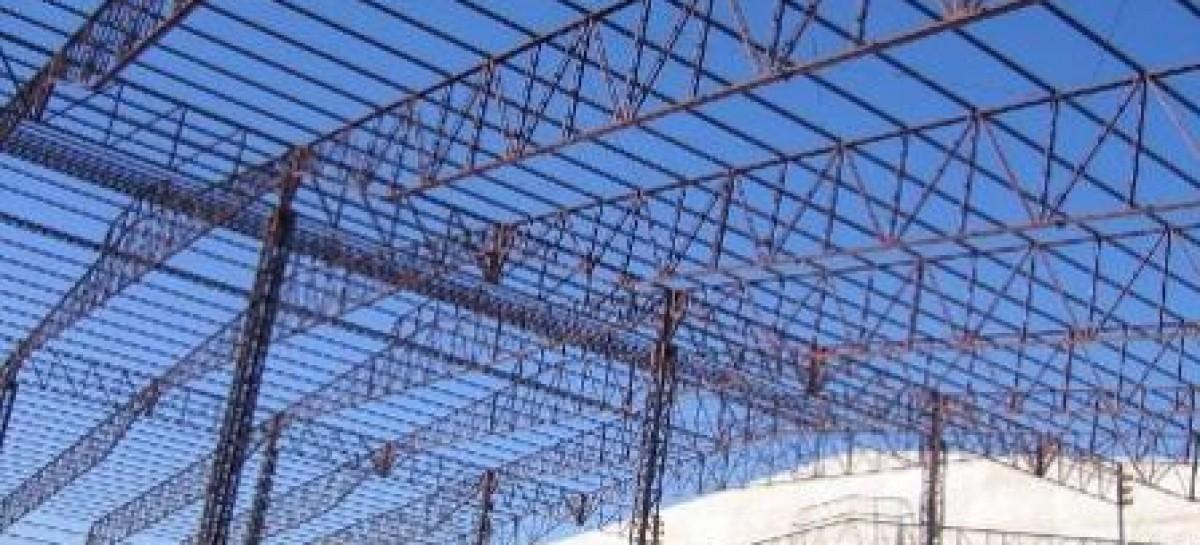 Estruturas metálicas para grandes espaços