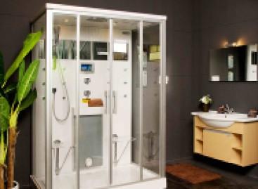Novas cabines de banho