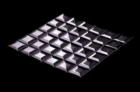 Pastilhas com efeito tridimensional