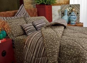 Jogo de cama com estampas