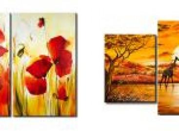 Pinturas impressas em tela