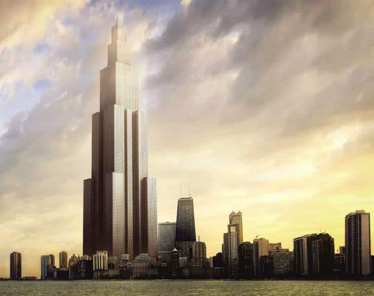 Modelo virtual do Sky City que deve ser construído em 3 meses, na China