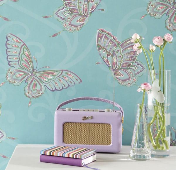 Papel de parede dos anos 70 - Butterfly