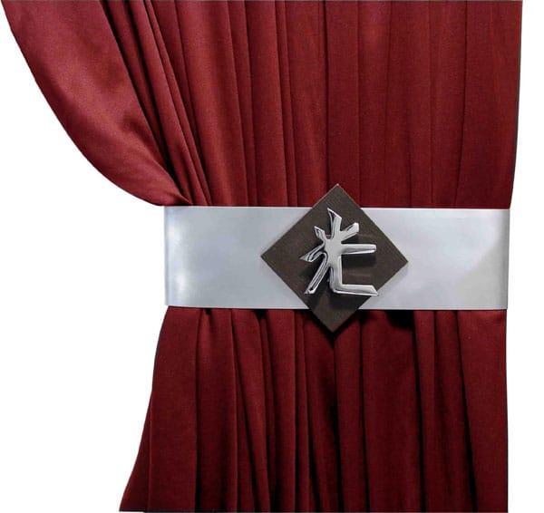 Fivela de cinta para cortina em inox - DeVictor