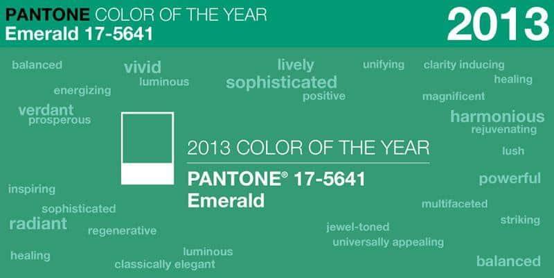 Verde Esmeralda - Cor selecionada pela Pantone como representante do Ano 2013 (Foto: Divulgação)