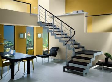 """Escada em formatos """"U"""" e """"L"""""""