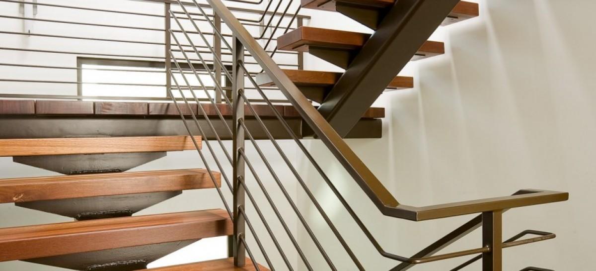 Escada com degrau vazado